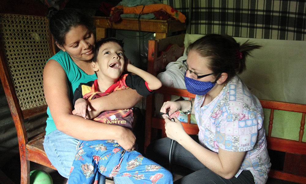 Your monthly donations ensure that patients like Exequiel have quality medical services. Exequiel is six years old and was born with severe developmental disabilities. We have been providing medical attention for him, as it is very difficult for his family to transport him to the local hospital. Our physician visits him every month to make sure he has the proper medications.